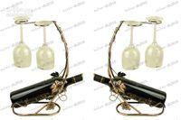 Wholesale LLFA2336 fashion Iron art copper surfaced wine holder bottle rack price best gift d