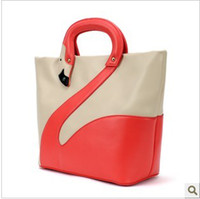 Wholesale women fashion lady shoulder bag high quality PU leather swan handbags