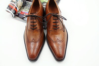 Dress shoes Oxford shoes men' s shoes Custom Handmade Sh...