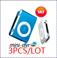 Wholesale HK POST Spy MP3 camera Player Music Spy cam hidden clip mp3 camera DV DVR Video Camera CCD Camcorder