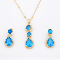 Wholesale Guangzhou Top Fashion Design High Technology Wedding Jewelry Sets For Women A551