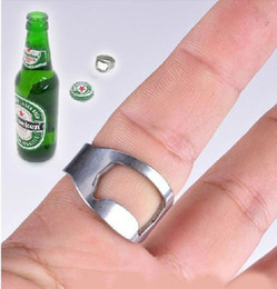 20pcs Men's beer Finger OPENER stainless steel rings wholesale Fashion Jewelry lots