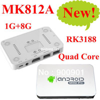 Wholesale Built in camera MK812A mk802iv Bluetooth RK3188 Quad Core Mini PC Android TV Box GB DDR3 GB Stick Dongle HDMI WiFi XBMC DLNA