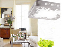 lampshade frames - LED ceiling light modern simple style wooden frame lampshade LED18W