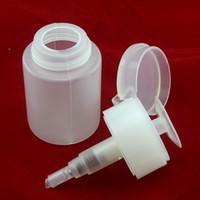 Dispenser Plastic  60ml Pump Locking Dispenser Polish Remover Cleaner Empty Bottle Refillable Bottles Nail Art Tool T409