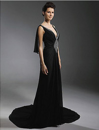Wholesale Sexy Deep V neck Court Train Evening Dress inspired by Diane Lane at Cannes Film Festival