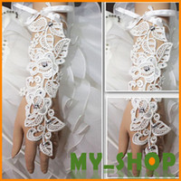 Wholesale Wedding Gloves Straps Embroidered Lace cm Wedding Bridal Gloves