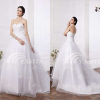 Wholesale 10 Western Hand made applique A line Sweetheart Sleeveless Court Train Organza Vintage Garden Wedding Dresses get gloves for free