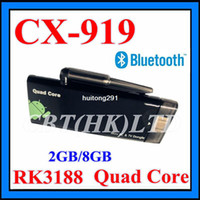 Wholesale 2013 new arrival in May CX in stock RAM GB ROM GB Rockchip Quad core RK3188 Bluetooth HDMI Mini PC