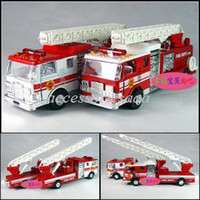 5-7 Years Bus Metal 4 plain fire truck ladder alloy car model toy