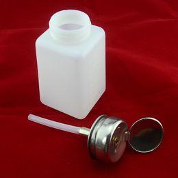 Wholesale 200ml Pump Locking Dispenser Polish Remover Cleaner Empty Bottle Refillable Bottles Nail Art Tool T411