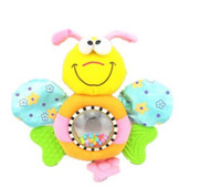 Wholesale Chicco Soft Toy Bee Baby Hand Bell Placate Plush Teether Toy