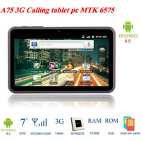Wholesale A75 G phone calling MTK6575 MB GB WCDMA GSM android tablet pc GPS TV Bluetooth WiFi HDMI quot capacitive touch screen
