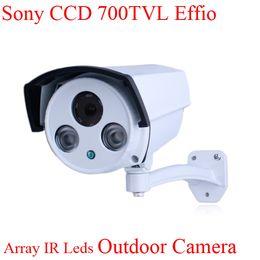 Wholesale Sécurité extérieure CCTV Array Caméra LED IR TVL SONY Effio E Contrôle CCD OSD