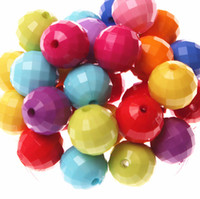 Wholesale Fashion mm Colorful Acrylic Disco Ball Beads Jewelry Findings