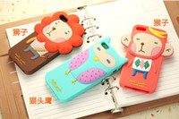 Wholesale Romania Cartoon Silicone Case for iphone5 for iphone4S phone shell protective sleeve