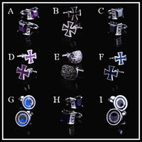 Wholesale Badge of Courage Min order Sets Nice Austrian crystals cufflinks cuff nails French shirts cufflinks Retro men shirt cuff