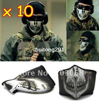 Wholesale New Outdoor Snowboard Motorcycle Ski Mask Bike Skull Half Face Mask Of