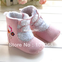 Wholesale 2013 New Product Sweate Winter Baby Shoes Pink Follower Print Baby Girl Boot Toddler Shoes