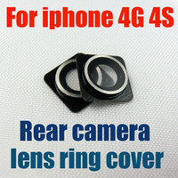 Wholesale Rear Camera Module Lens Ring Cover Replacement for iphone G S cdma