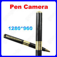 None   Hidden Golden Pen Camera 1280*960 Spy Pinhole Mini DV Camcorder 30fps Video Audio Recorder
