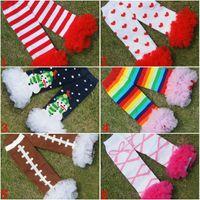 Wholesale Baby leg warmers Lace kids lace socks Baby socks Girls boys knit warm feet set fashion lace sock