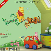 PVC bears live - Little Bear the pooh Whosale Bulk Price Off Discount cm Kid s Removable Wall Sticker Zoo Yoo