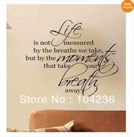animal breath - 23 quot x28 quot Life is not measure by the breaths we take but by the moments that take Wall Art vinyl decals letters home love decor