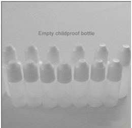 FREE SHIPPING Promotion 10ml Bottles Empty child proof Bottle Electronic Cigarette E cig Plastic Needle Dropper Bottles for E CIG ego series