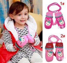 Wholesale Hot New Winter Children s Mittens lovely rabbit mittens children gloves kids winter warm accessories color