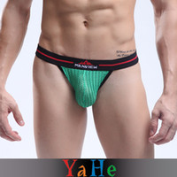 Wholesale 2013 Mens Underwear Transparent Gay Underwear Pouch Briefs Boxers Polyamide Men Sexy Panties Colors YAHE Brand MU1006B
