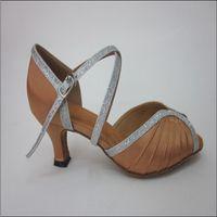 Customized Fashion Womens Satin Upper Dance Shoes latin dance shoes Fashion