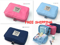 Wholesale Bright Colors Outdoor Travel Insert Handbag Purse Large Multifunction Bag Cosmetic Storage Bags Makeup Case Waterproof Hanging Toiletry Kits