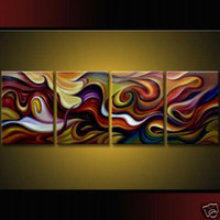 Wholesale HOT SALE PIECES MODERN MODERN ABSTRACT HUGE WALL ART OIL PAINTING ON CANVAS