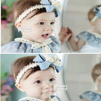 Headbands Lace Floral Baby Headbands Girl Chiffon Frilly Flower For hairbands Children Hair Accessories Chiffon Flower Hair Bow Handmade Headbands