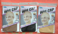 Wholesale Freeshipping pieces wig liner cap net Snood Nylon Stretch Mesh black brown beige pick any