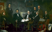 abraham lincoln paintings - Christmas Gift Oil painting Emancipation proclamation President Abraham Lincoln
