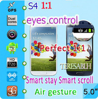 Wholesale S4 perfect Smart stay Air gesture Eye tracking control Real quot Quad Core software G RAM phone