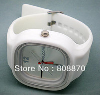 Unisex beach watch - 2013 sale Candy watches for men women Fashion Silicone Watches beach watches color Ss com Drop ship LJX18