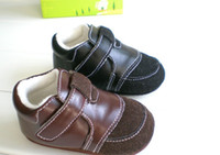 Unisex Winter Cotton 10%off!COOL Brown black baby leather toddler shoes, baby casual shoes sales,12 cm china walker shoes,baby wear,cheap shoes! 5pairs 10pcs.ZB