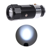 Wholesale Rechargeable modes Mini Flashlight Torch Car Cigarette Lighter mini LED Flashlight Torch mix colors