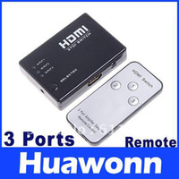 Wholesale Mini Port P Video HDMI Switch Switcher Splitter with IR Remote Dropshipping