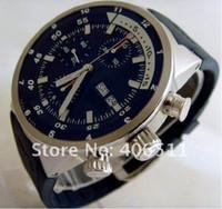 Luxury Men's Mechanical Automatic wholesale- luxury watches men's Aquatimer Chrono Cousteau 3781-01 B&P Mens Watches black rubber belt Automatic stylish mens watches