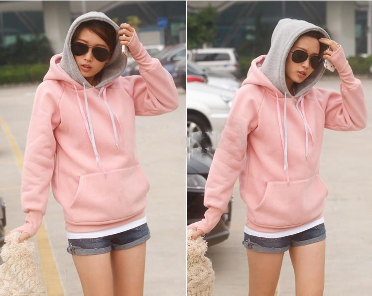 Autumn Korea Style Women's Pullover Hoodies Personalized Double ...
