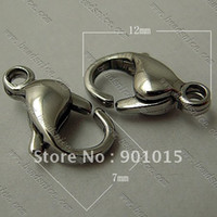 Wholesale Stainless Steel Lobster Claw Clasp Steel x7x4mm id