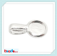 Wholesale Beadsnice ID3426 mini order of new vintage style sterling round pendant tray silver for Blank Bezel Pendant Settings