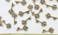 Wholesale set of Skeleton Keys Vintage Keys Antique Bronze tone plated Pendants Charms
