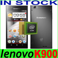5.5 Android 2G Free DHL In Stock Lenovo K900 5.5 inch Intel Atom Z2580 2.0Ghz Quad Core Smartphone FHD 1080P 2GB 16GB 13.0MP GPS K900 Phone