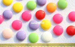 Wholesale set of bling polished mm mixed Flatback round candy resin Cabochon Cabs DIY Jewelry decor scrapbook hair bow clips