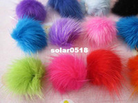 Wholesale Set of Bulk buy mink hair Fur pom pom ball craft sewing accesories earplug iphone ipod supply good quality